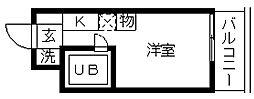 埼玉県久喜市久喜東2丁目の賃貸マンションの間取り