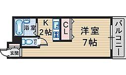 延明ハイツ[201号室]の間取り
