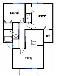 ソレイユ(神岡町)[1階]の間取り