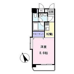 AYマンション[5階]の間取り