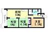 間取り,3LDK,面積58.8m2,賃料6.7万円,JR函館本線 琴似駅 徒歩8分,JR学園都市線 八軒駅 徒歩6分,北海道札幌市西区八軒四条東1丁目