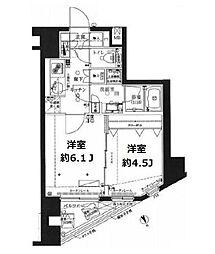 東京都武蔵野市中町1丁目の賃貸マンションの間取り