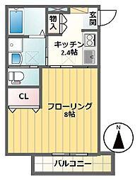 Villa Alba笹塚[101号室]の間取り
