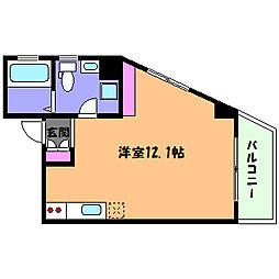 阪急神戸本線 王子公園駅 徒歩10分の賃貸マンション 7階ワンルームの間取り
