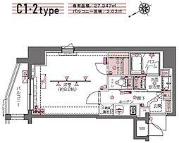 ZOOM白金高輪[6階]の間取り