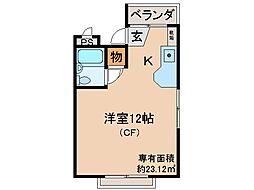 京都府宇治市五ケ庄野添の賃貸マンションの間取り