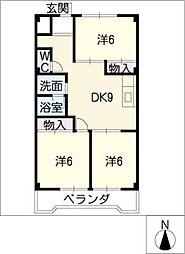 メゾン広田[3階]の間取り