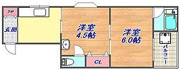五百蔵マンション[301号室]の間取り