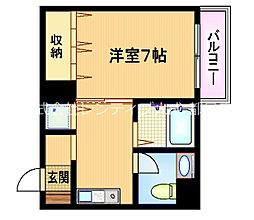 Osaka Metro谷町線 都島駅 徒歩5分の賃貸マンション 7階1DKの間取り