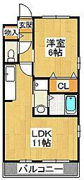 クレインコート弐番館[2階]の間取り