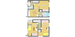 [テラスハウス] 大阪府大阪市住之江区西加賀屋3丁目 の賃貸【/】の間取り
