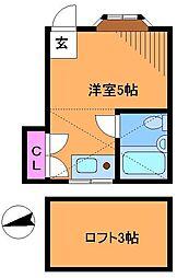 VIP調布ヶ丘[2階]の間取り