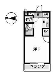 キャスティル3[2階]の間取り