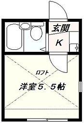 東京都練馬区氷川台2丁目の賃貸アパートの間取り