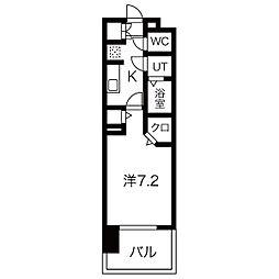 パルティール黒川アネックス 8階1Kの間取り