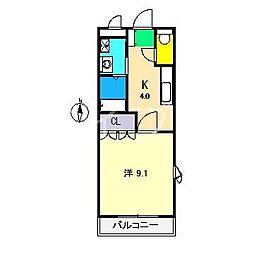 ボニータ[2階]の間取り