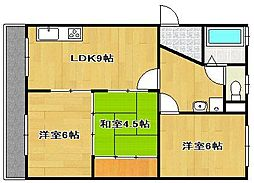 柳田マンション[3階]の間取り