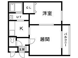 clover西麻生(クローバー)西麻生[4階]の間取り