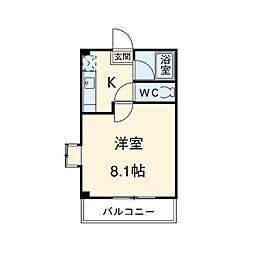 埼玉県さいたま市北区日進町の賃貸アパートの間取り