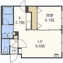 エターナルステージ[3階]の間取り