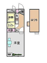 ボヌール橋本[206号室]の間取り