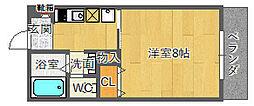 ドミトリオ 仁王田[4階]の間取り
