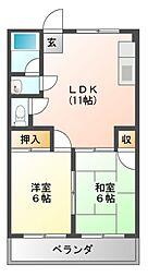 第三和泉マンション[3階]の間取り