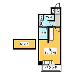 愛知県長久手市長配2丁目の賃貸マンションの間取り