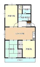 コーポ高津屋(タイカツ)[2階]の間取り