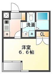 ルーム335[2階]の間取り