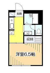 東京都国分寺市本多5の賃貸マンションの間取り