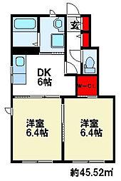 シャーメゾン筑紫[1階]の間取り