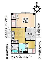 愛知県名古屋市昭和区東畑町1丁目の賃貸マンションの間取り