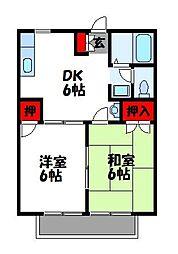 メゾンアジュレ I棟[2階]の間取り