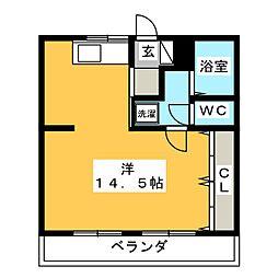 プレステージSakura[1階]の間取り