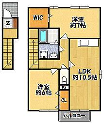 ハートランド4棟[2階]の間取り