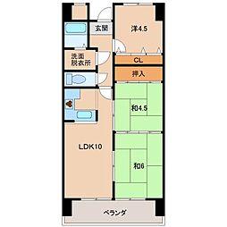 スカイヴィラ太田[3階]の間取り