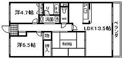 メゾン羽倉崎 新川第4マンション[108号室]の間取り