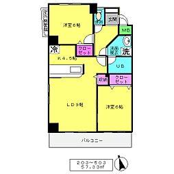 COVA北上野[203号室]の間取り