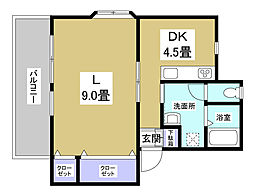 内藤アパート[D号室]の間取り