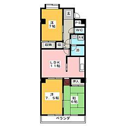 東柴ビル第3[1階]の間取り