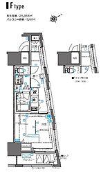 ZOOM横浜桜木町 9階1Kの間取り