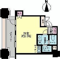 ルネ新宿御苑タワー 11階ワンルームの間取り