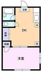 稲丘アームス[1階]の間取り