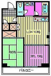 リバーサイドMAKIBA[501号室]の間取り