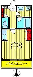 興亜第3マンション[2階]の間取り