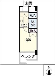 リバーコートセト[2階]の間取り