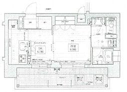 Osaka Metro中央線 阿波座駅 徒歩2分の賃貸マンション 3階1DKの間取り