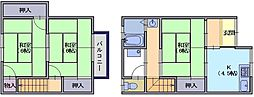 平尾住宅パート2 1階3Kの間取り