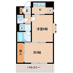 ロイヤルヒルズ成田町[6階]の間取り